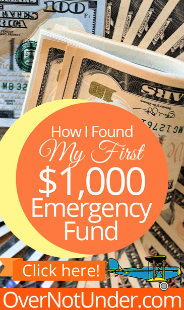 How I Found My First $1,000 Emergency Fund | by Jamie Rohrbaugh | OverNotUnder.com