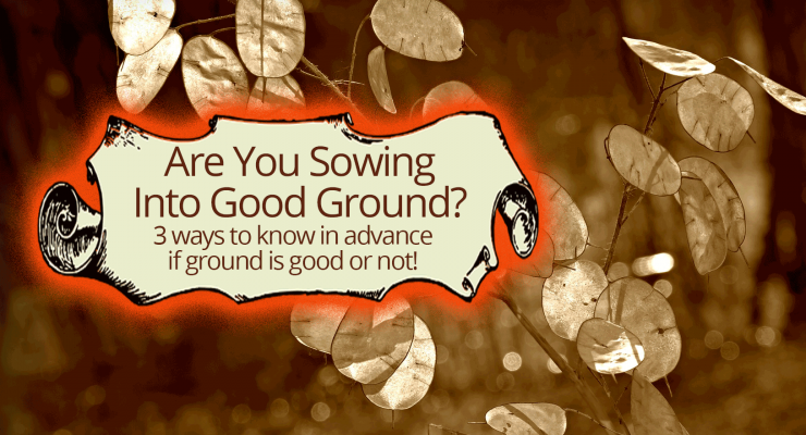 Are You Sowing Into Good Ground? 3 Ways to Know